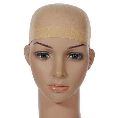 Fornateu 2ST One Size elastischer Strumpf Mesh-Deluxe Wig Cap Unisex Abendkleid Haarnetze