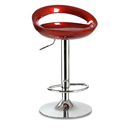 WGZ- Chaise de bar Café Chaise lève-fauteuil Famille Tabouret de bar Tabouret haut Tabouret de comptoir noir Multicolore La mode (Color : Crimson)
