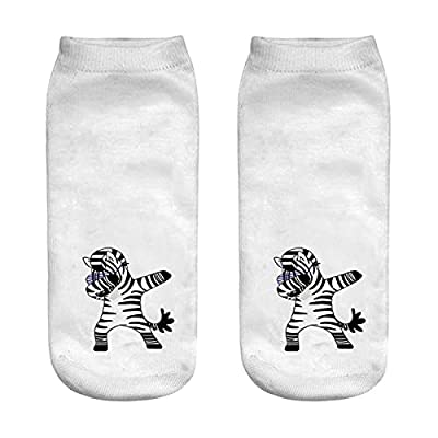 Calcetines deportivos 3D Impresas de mujeres calcetines cortos divertidos unicornio creativo lindo patrón de dibujos animados unisex deportes transpirable algodón bajo tobillo calcetines suaves Calcet