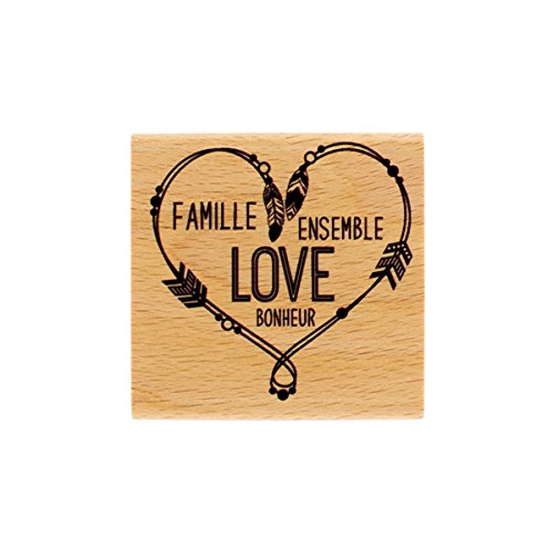 Florilèges Design Stamp fe216033?Wood Heart Pearl 6?x 2.5?cm