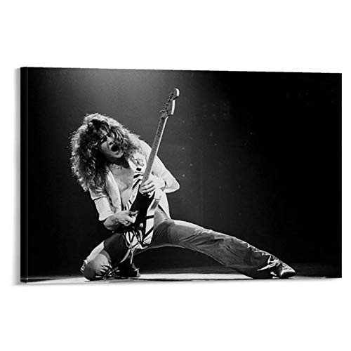 Eddie Van Halen Print on Canvas Wall Art Canvas Art Prints Wall Painting Picture Modern Bedroom Decor-24x32 inch No Frame