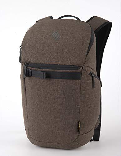 Nitro Nikuro Daypack Alltagsrucksack Schulrucksack Sportrucksack Wasserabweisende Reissverschlüsse Laptopfach, Burnt Olive, 26 L