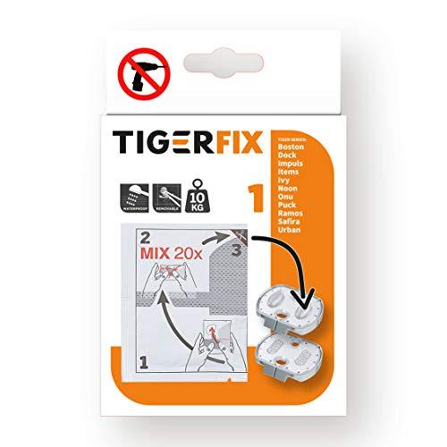 Tiger Tigerfix Klebesystem Nummer 1, zur einfachen Montage ohne bohren, 2-Einheiten