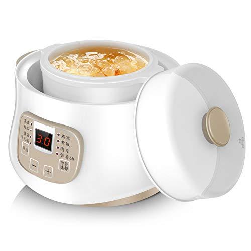 Slow Cooker,Elektrischer Eintopf Pot Mit 24h Verzögerungstimer,Haushalts Multikocher Mit 8 Kocheinstellungen,200W