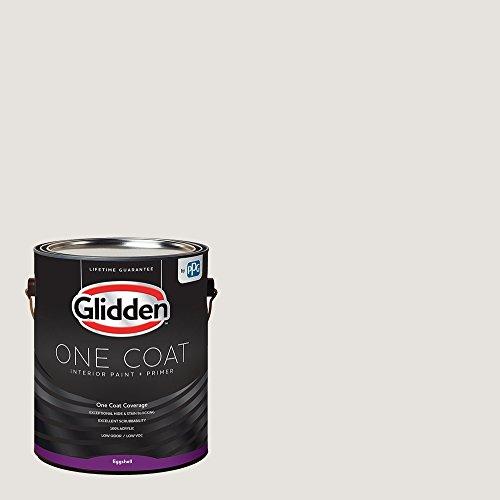 Glidden Interior Paint + Primer: White/Arctic Cotton, One Coat, Eggshell, 1 Gallon