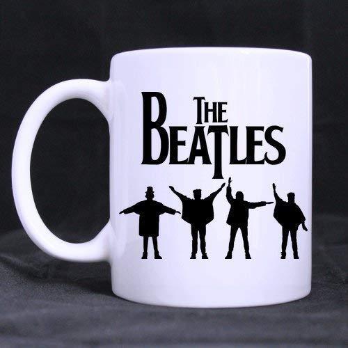 Thorea Tazas divertidas de Diy Cool Band The Beatles Tazas de café personalizadas personalizadas Jarra de cerveza Tazas de agua de cerámica blanca Taza de la casa de la oficina 11 oz Dos lados impreso