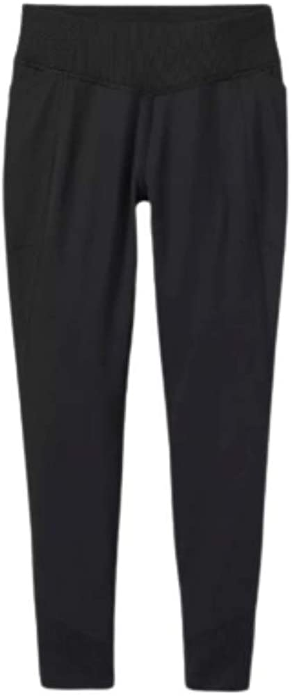 All in Motion Girls' Rib Pieced Performance Leggings with Side Pockets Black
