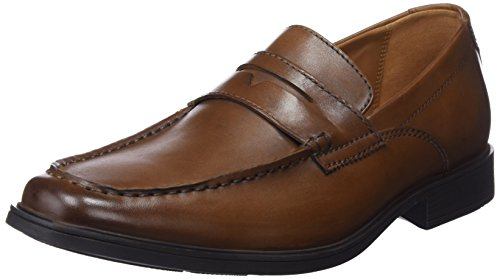 Clarks Herren Tilden Way Slipper, Braun (Tan Leather), 47 EU