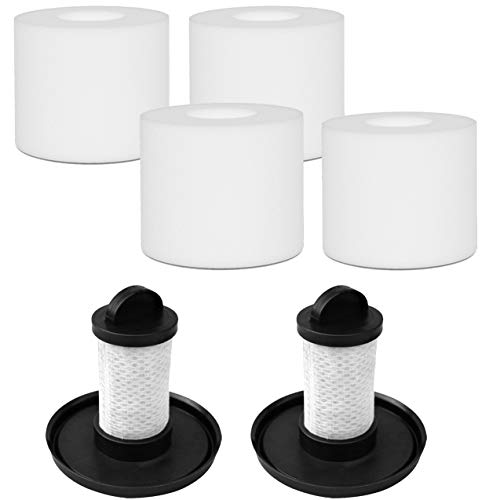 Fette Filter - Vacuum Filter Kit compatible with Shark APEX UpLight Lift-Away DuoClean Vacuum Models 4 Foam + Pre-Motor Filters Support Kit. Compare to Parts XFFLZ600