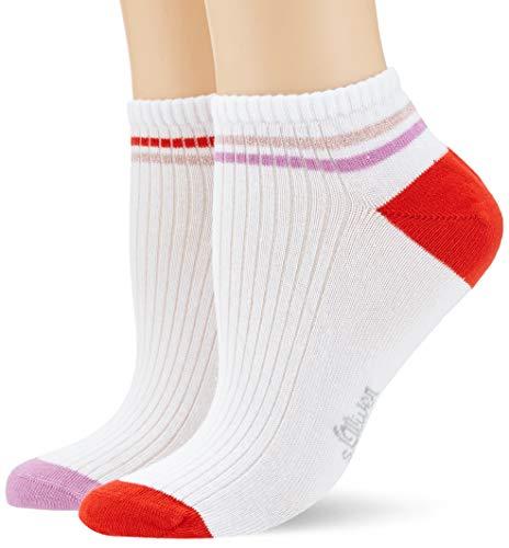 s.Oliver Socks S24167 Calcetines cortos, Rosa (smoky grape 4443), 35/38 ES (talla de fabricante:35/38) (Pack de 2) para Mujer