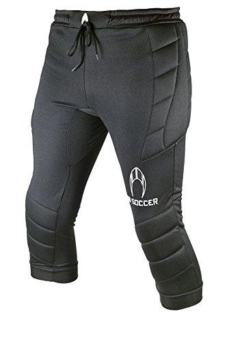 HO Soccer 3/4 Logo Pantalones de Portero, Unisex niños, Negro, 12