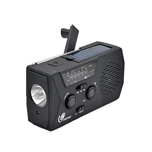 [2020 Upgraded Version] GREATONE Weather Radio Emergency Solar Crank Radio with Flashlight and Reading Lamp,AM FM NOAA Weather Radio,2000mAh Power Bank and SOS Alarm018WB (Black)