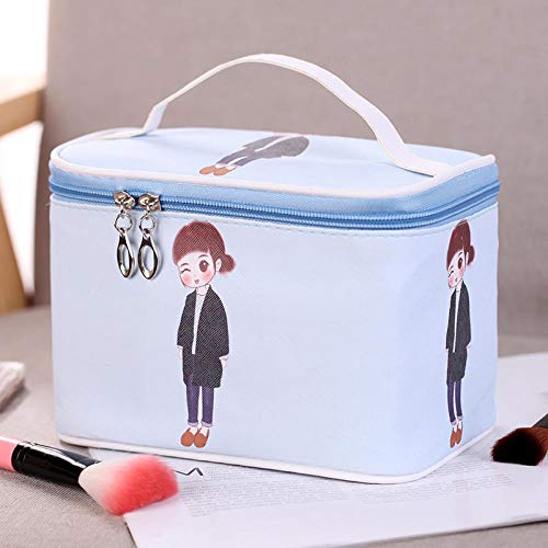 Trousse de toilette carrée simple et portable Voyage petit sac carré bleu ciel