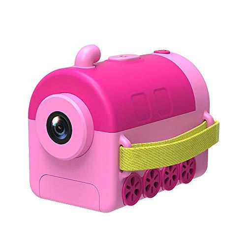 FXNB Niños cámara Digital, Dibujos Animados Video Recorder 1.54inch 1400W píxeles, Mini pequeño Juguete de Tren de 32 GB, Regalo de cumpleaños para niñas y niños