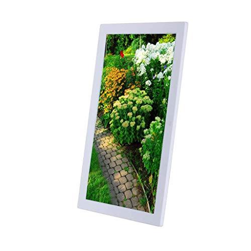 Photo Frame 19-Zoll-HD 1080P digitalen Fotorahmen, hintere Schale Muster kann vertikal Werbemaschine Display Foto/Musik/Video-Player Kalender Wecker automatische EIN/Aus-Timer platziert Werden