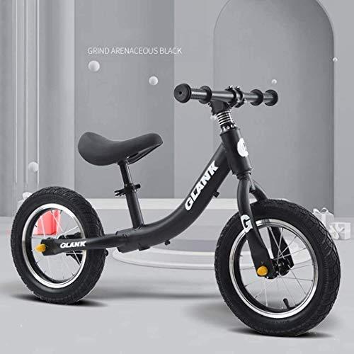 LAMTON Gleichgewicht Bike Scooter 2-6 Jahre alt Kinder Kinder - höhenverstellbarem Sitz - Baby Walker luftgefüllten Gummireifen for Kleinkinder - kein Pedal-Roller-Fahrrad, Schwarz, Ordinary Modelle