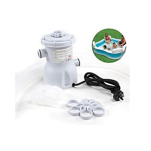 Dongbin Filterpumpe Pool-Reiniger 220V Filterpumpe Umwälzpumpe Fit Für Den Ground-Pools, Kinder Aufblasbarer Swimmingpool, Bracket Schwimmbad, Umwälzpumpe-Weiß