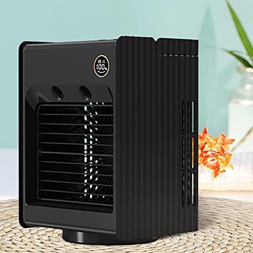 Aire acondicionado portátil, 3 en 1 Mini Mini Aire acondicionado USB Ventilador 3 Velocidad Cabeza móvil Agua Enfriamiento Air Acondicionador Aire acondicionado Refrigerador Fan Air Enfriador personal