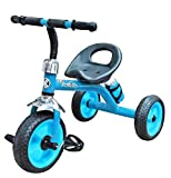 Nagar International Baby Tricycle with Heavy Duty Metal (Blue J-6) With Water Bottle