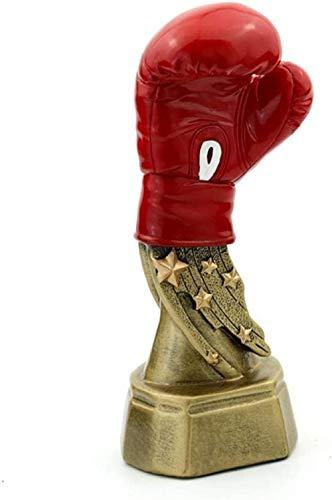 Skulptur,Ornamente Statuen Skulpturen Neue Boxhandschuh Trophäe Repliken Galvanik Harz Handwerk Souvenir Boxen Trofeo Andenken Trophäen An