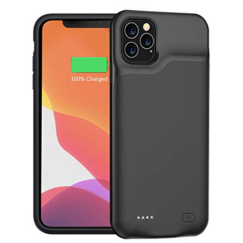 Battery Case for iPhone 11 Pro Max, 6500mAh Portable Protective Charging Case Compatible with iPhone 11 Pro Max (6.5 inch) Rechargeable Extended Battery Charger Case (Black)