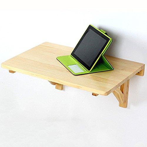 WTT tafel van massief hout, om op te hangen aan de muur, eettafel, inklapbaar, bureau voor bureau, educatief tafel, 3 kleuren, 3 maten naar keuze, kleur: wit, maat: 100 x 50 cm