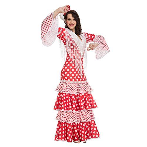 Desconocido My Other Me-203863 Disfraz de flamenca Rocío para mujer, color rojo, XL (Viving Costumes 203863)