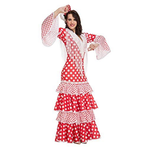 My Other Me Me-203861 Disfraz de flamenca Rocío para mujer, color rojo, S (Viving Costumes 203861)