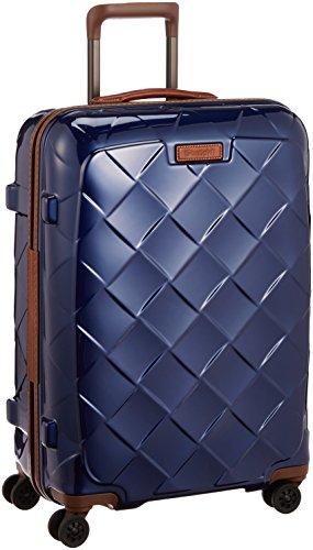 [ストラティック] スーツケース ジッパー レザー&モア グッドデザイン賞 静音双輪キャスター 保証付 65L 66 cm 3.43kg ネイビーブルー