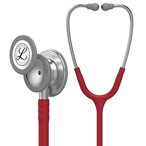 3M Littmann Classic III Monitoring-Stethoskop, Burgunderrot, 68,6 cm, 5627