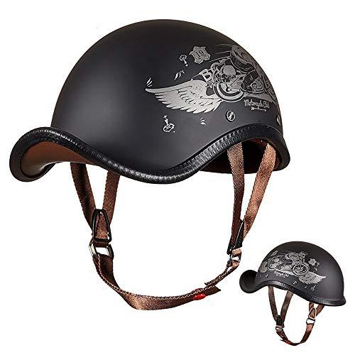 RXDRO Vintage Helm Fahrrad Helm Motorrad Helm, Wasserdicht Windsicher StoßDäMpfung Ultraleichte Mopedhelm, FüR Herren Damen Moto Helme
