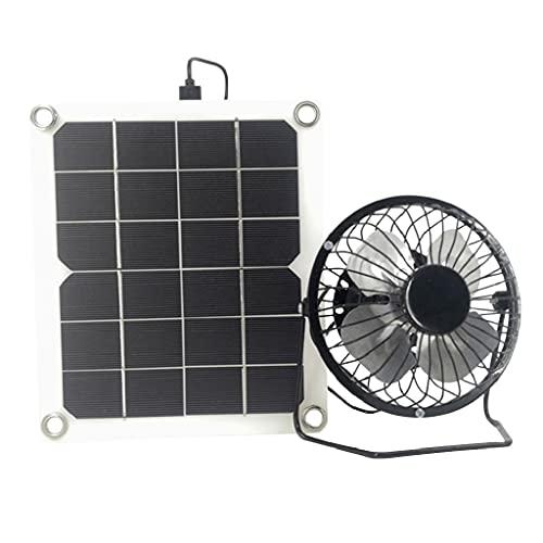 Release Ventilador de Escape Solar de 10W 5V Extractor de Aire Mini Ventilador Ventilador Alimentado por Panel Solar para Invernadero de casa de Pollo para Perros