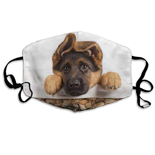 Funda protectora facial suave y transpirable, con bonito pastor alemán, unisex, lavable, reutilizable, para protección personal