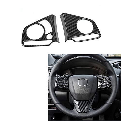 MAXMILO for CR-V Carbon Fiber Steering Wheel Trims Inner Wheel Button Decoration Cover for Honda CRV 2017 2018 2019 2020 2021 (Steering Wheel Button Cover)