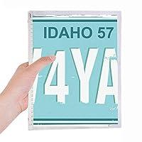 アメリカの米国車のナンバープレート番号 硬質プラスチックルーズリーフノートノート