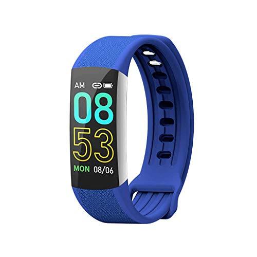 ZLLAN Tracker d'activité avec moniteur de fréquence cardiaque, Bracelet intelligent étanche IP67 avec marchepied, compteur de calories, moniteur de sommeil, podomètre, montre de santé for hommes, femm
