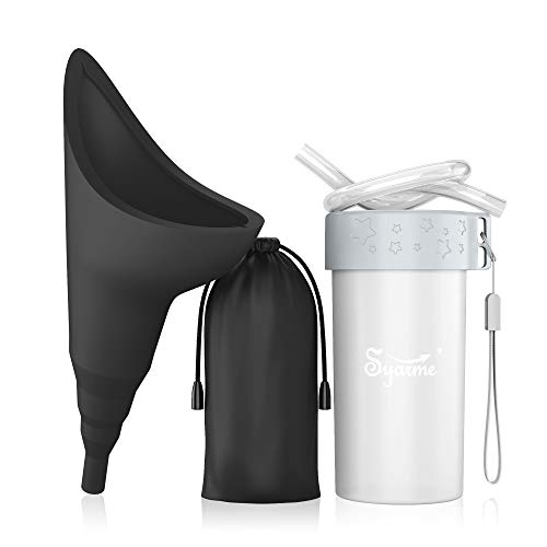 Urinario Femenino Reutilizable Portátil con Tubo de Extensión Syarme