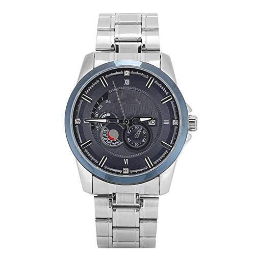 Agatige Elegante Reloj de Pulsera para Hombres, Correa de Acero, Reloj de Cuarzo, Calendario Impermeable, Reloj Masculino, Reloj de Pulsera, Relojes de Negocios