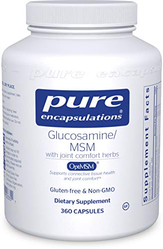 Pure Encapsulations - Glucosamine/MSM - Dietary Supplement Support for Healthy Joint Function and Tissues - 360 Capsules