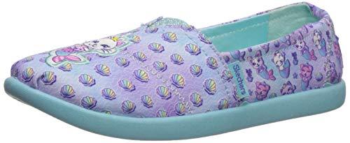 Skechers Kids Girls' SOLESTICE 2.0-Shell Friends Sneaker, Lavender/Turquoise, 12 Medium US Little Kid