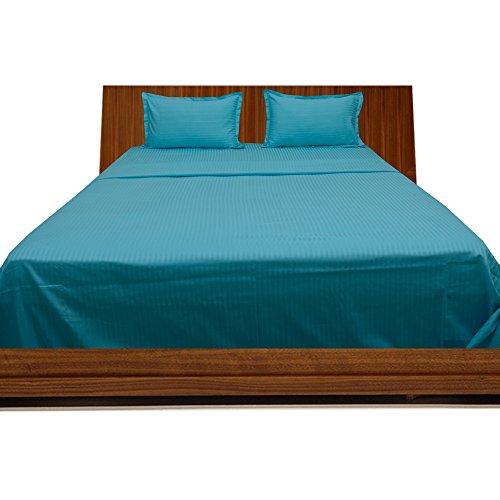 Scala Muy Suave algodón Egipcio 650Hilos 1pieza Colcha 100gsm Euro Rey IKEA Turquesa Azul diseño a Rayas 100% algodón 650TC