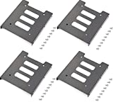 USECL 2.5' to 3.5' Hard Drive Adapter Conversion Bays Metal Mounting Bracket ,Apply to Desktop Computer Mounting.(4 Pack)