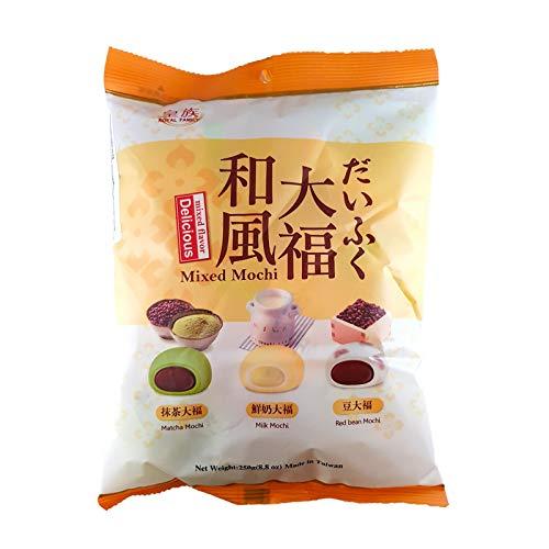 Royal Family Mixed Mochi (Matcha, Milk & Red Bean Mochi) 250g …