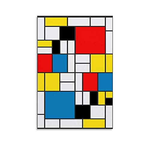 XUYAN Mondrian - Cuadros abstractos para habitación (20 x 30 cm)