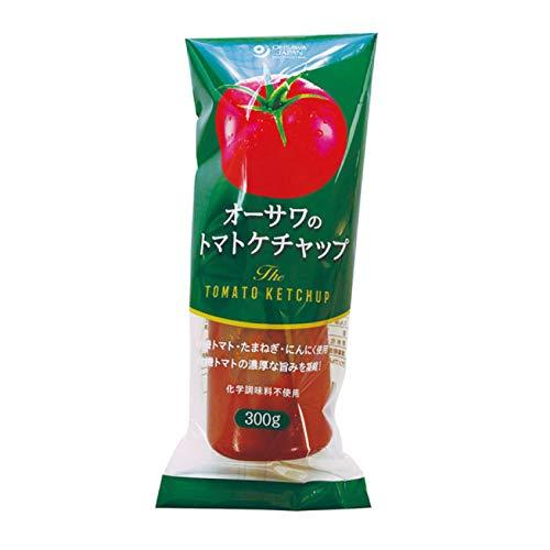 自然で濃厚な旨味 無添加 トマトケチャップ 300g ★ コンパクト ★ 砂糖不使用 ・有機認定原料使用 ・濃厚な有機トマトの旨み