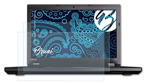 Bruni Schutzfolie kompatibel mit Lenovo ThinkPad L560 Folie, glasklare Bildschirmschutzfolie (2X)