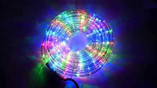 REPLOOD Tubo Luci Led Per Addobbi Natale 30 Metri Luce Bianco Fredda o Rgb Multicolore Interno Ed Esterno (Rgb Multicolore)