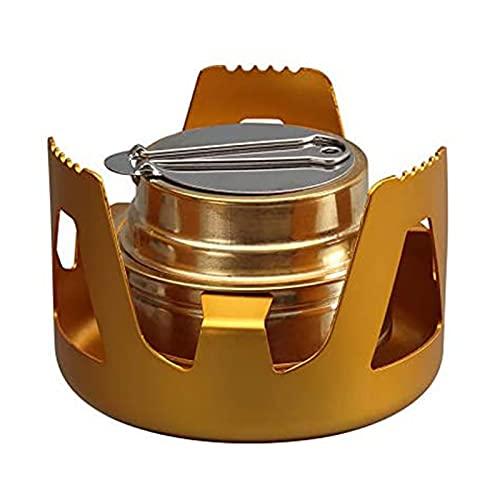Feixing 97mm* 65mm al aire libre portátil alcohol alcohol estufa acero inoxidable mini estufa para senderismo camping barbacoa