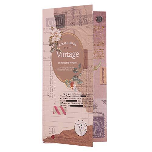 30 Blatt Scrapbooking Sticker, Lychii Aufkleber Fotoalbum DIY Dekoration DIY Tagebuch Album Stick Label Scrapbooking Stickers, Kollektion für Bastler, verschönert Journals, Planer und Karten (Vintage)