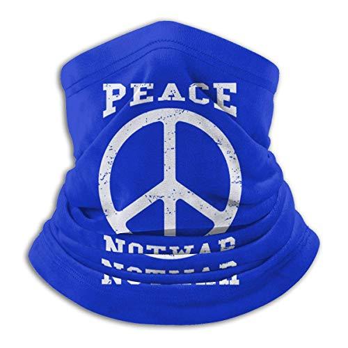 Peace Not War Mikrofaser Halswärmer Schal Gaiter Kopfbedeckung Gesichtsmaske Bandanas